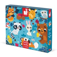Janod - Tactile Puzzle Forest Animals (20 Pcs)