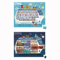 Janod - Cruise Ship Dual Suitcase Puzzles