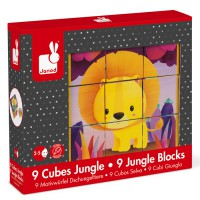 Janod - Kubkid Jungle 9 Blocks