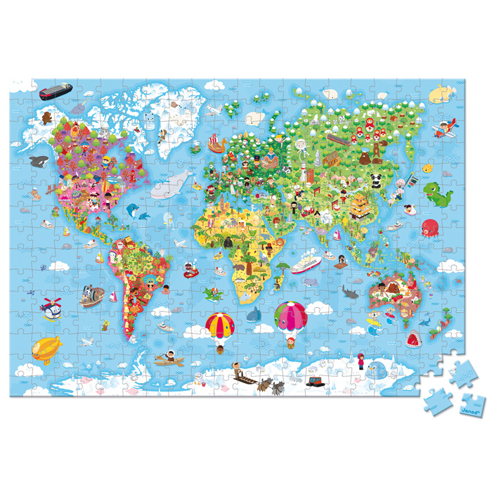 Janod - Giant World Suitcase Puzzle