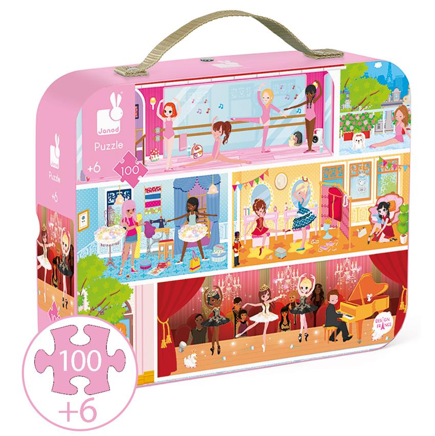 Janod Dance Suitcase Puzzle Janod Store