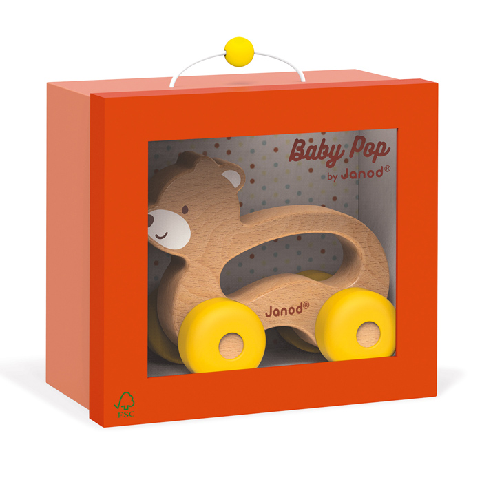 Janod - Baby Pop Push Along Bear