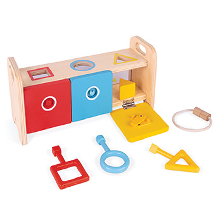Janod - Essentials Shape Box With Keys