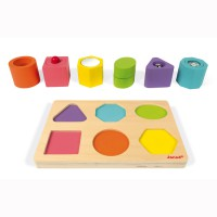 Janod - Shapes & Sounds 6 Block Puzzle