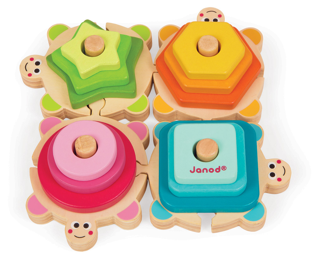 Stacking Toy Puzzles : Janod turtles stacking puzzle store