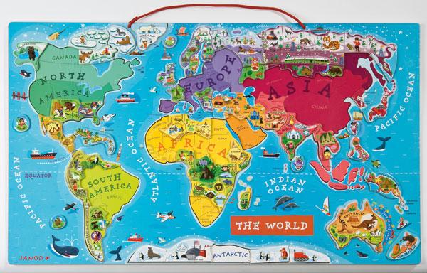 Janod World Map.Janod World Puzzle Janod Store