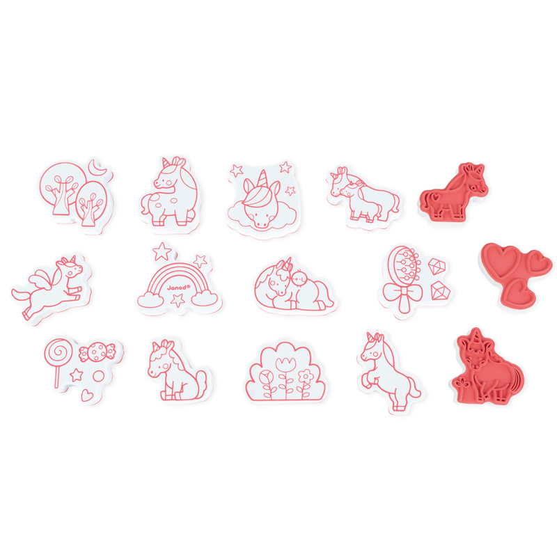 Janod - Stamps Unicorns (15 Pcs)