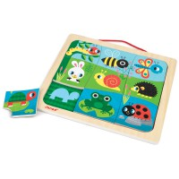 Janod - Happy Garden Magnetic Puzzle