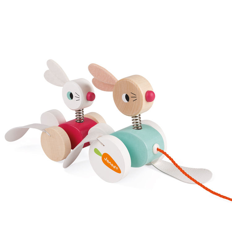 Janod - Pull-along Rabbits